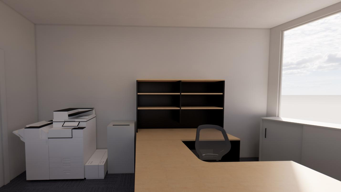 3D / 360 Rendering of Private Office