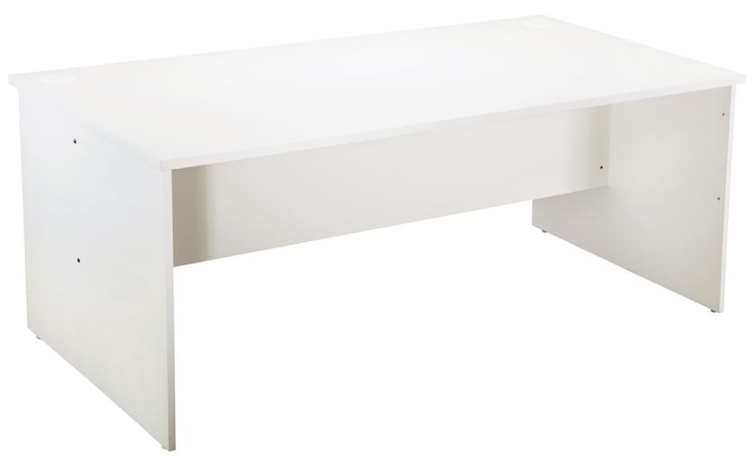 Straight Desk - White